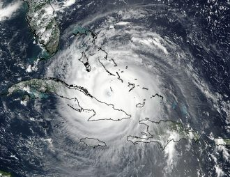 Hurricane Irma over the Bahamas and Cuba on Sept 8, 2017. Images by the LANCE/EOSDIS Rapid Response team.