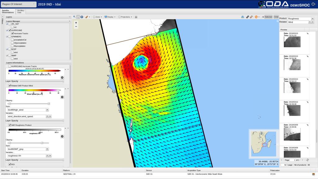 EODA screenshot (Idai)