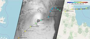 Trevor tropical cyclone trajectory (copernicus-noaa)